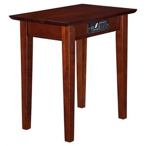 Atlantic Furniture Shaker Charging Station Chair Side Table
