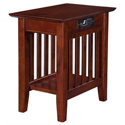Atlantic Furniture Newberry Rectangular End Table in Walnut