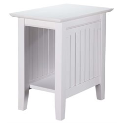 Atlantic Furniture Hampton Rectangular End Table in White