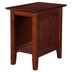 Atlantic Furniture Hampton Rectangular End Table in Walnut
