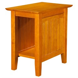 Atlantic Furniture Hampton Rectangular End Table in Caramel Latte
