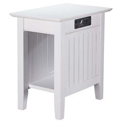 Atlantic Furniture Nantucket Charging Station Chair Side Table