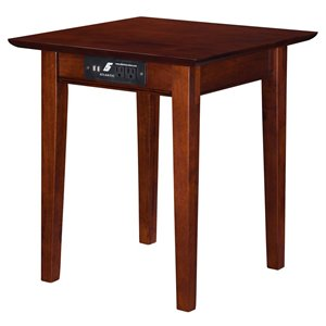 Atlantic Furniture Shaker Charging Station End Table