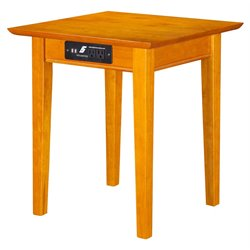 Atlantic Furniture Anderson Square End Table in Caramel Latte