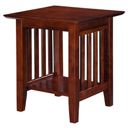 Atlantic Furniture Newberry Square End Table in Walnut