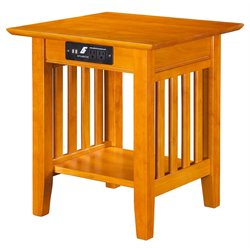 Atlantic Furniture Newberry Square End Table in Caramel Latte