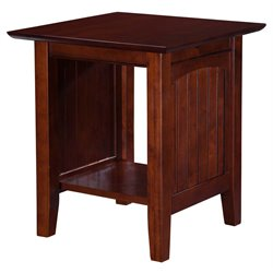 Atlantic Furniture Hampton Square End Table in Walnut