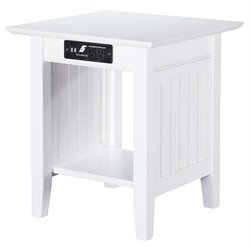 Atlantic Furniture Hampton Square End Table in White