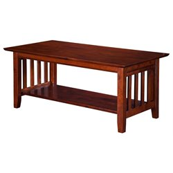 Atlantic Furniture Newberry Coffee Table in Walnut