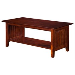 Atlantic Furniture Hampton Coffee Table in Walnut