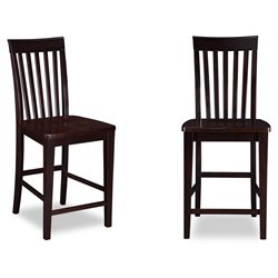 Atlantic Furniture Mission Bar Stools in Espresso (Set of 2)