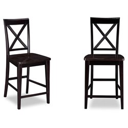 Atlantic Furniture Lexi Bar Stools in Espresso (Set of 2)