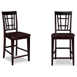 Atlantic Furniture Montego Bay Bar Stools in Espresso (Set of 2)