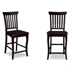 Atlantic Furniture Venetian Bar Stools in Espresso (Set of 2)