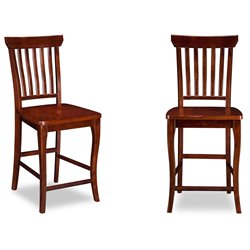 Atlantic Furniture Venetian Bar Stools in Walnut (Set of 2)