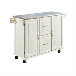 Home Styles Patriot Kitchen Cart in White