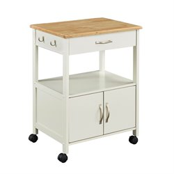 Home Styles Banner Kitchen Cart in White