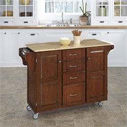 Home Styles Cherry Kitchen Cart