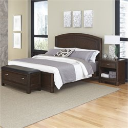 Home Styles Crescent Hill 3 Piece Queen Panel Bedroom Set