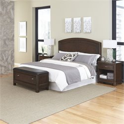 Home Styles Crescent Hill 4 Piece Queen Panel Bedroom Set