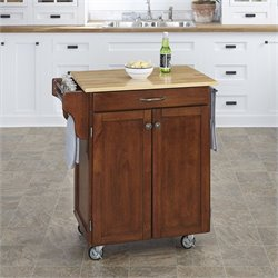 Home Styles Kitchen Cart in Cherry