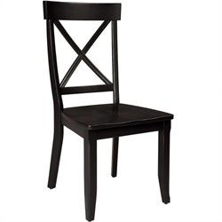 Home Styles Dining Chair in Rich Black (Set of 2)