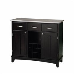 Furniture Large Steel Top Buffet in Black