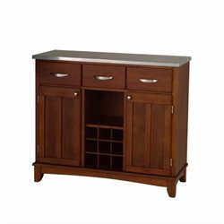 Home Styles Furniture Large Base and Buffet in Cherry