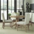 Classic 5 Piece Round Dining Set in White Wash