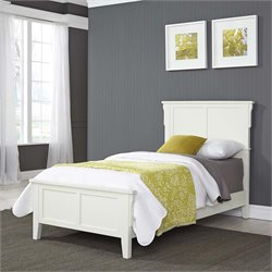 Twin Panel Bed in White