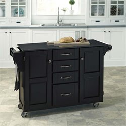 Home Styles Create-a-Cart Quartz Top Kitchen Cart in Satin Black