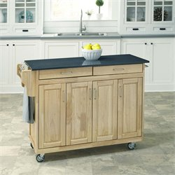 Home Styles Create-a-Cart Quartz Top Kitchen Cart in Natural