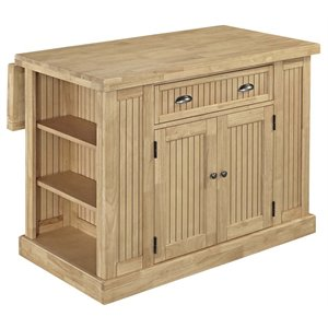 Home Styles Nantucket Butcher Block Top Kitchen Island in Maple