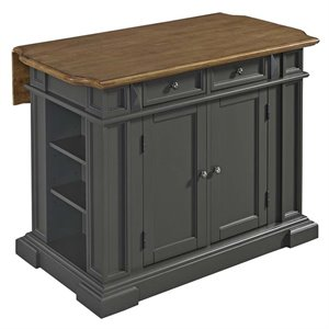 Home Styles Americana Kitchen Island in Gray