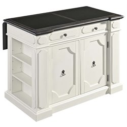 Fiesta Granite Inlet Top Kitchen Island in Distressed White