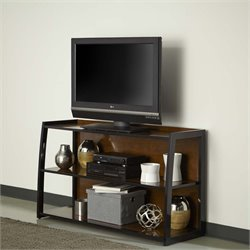 Home Styles Aero 3 Shelf TV Stand in Black
