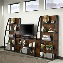 Home Styles Aero 3 Piece Entertainment Center in Black