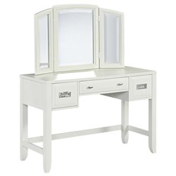 Newport Bedroom Vanity with Mirror in White