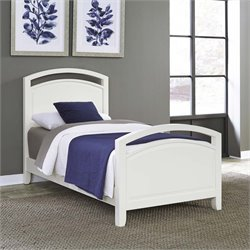Newport Panel Bed in White