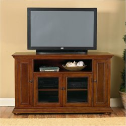 Wood LCD/Plasma TV Stand in Distressed Oak Finish