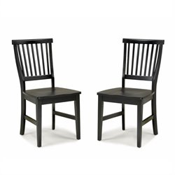 Home Styles Arts & Crafts Wood Side Chair in Ebony Finish (Set of 2)