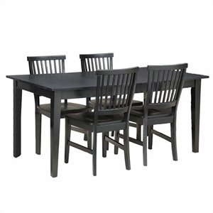 5 Piece Dining Set in Ebony