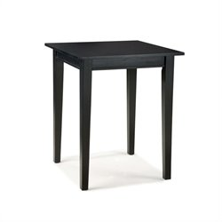 Home Styles Arts & Crafts Bistro Casual Dining Table in Ebony Finish