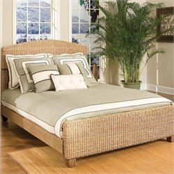 Home Styles Cabana Banana Natural Woven Queen Panel Bed in Honey