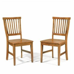 Home Styles Arts & Crafts Wood Side Chair in Cottage Oak Finish (Set of 2)
