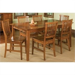 Arts and Crafts 7 Piece Dining Set in Cottage Oak
