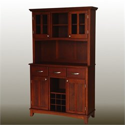 Cherry Buffet with 2-Door Hutch