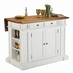 Kitchen Cart in in White Finish