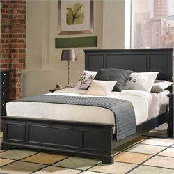 Home Styles Bedford Queen Panel Bed in Ebony