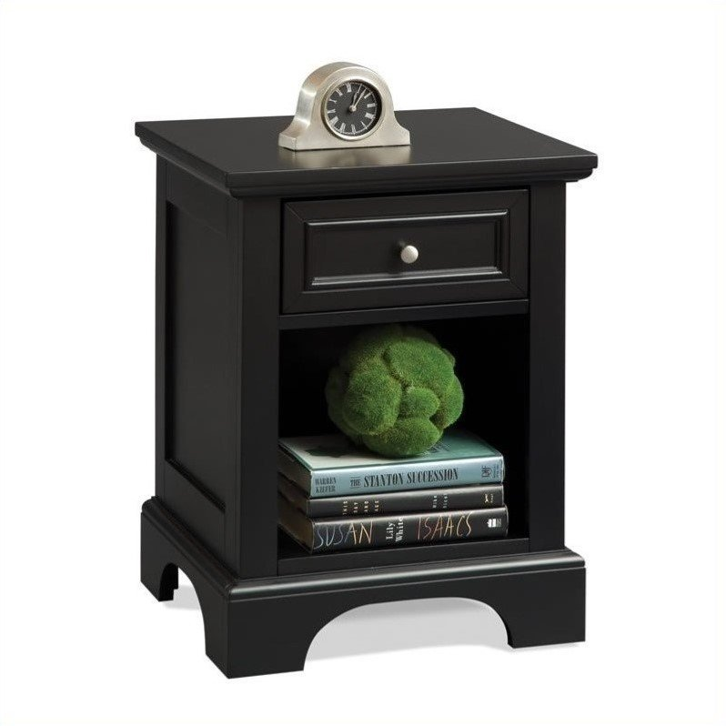 Home Styles Bedford Night Stand in Ebony